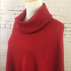 Eileen Fisher Italian Merino Wool Poncho OS